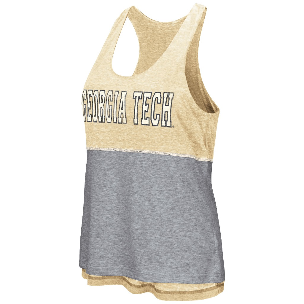 "Georgia Tech Yellowjackets Women's NCAA ""Red Ross"" Reversible Burn Out Tank Top"